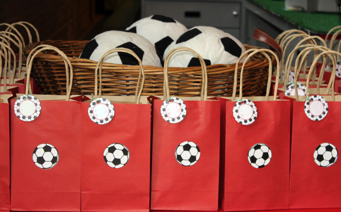 Soccer Party Favor Bags