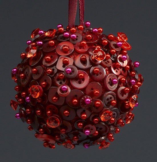 Esferas de unicel con botones y tela - Bolas gigantes de navidad ...