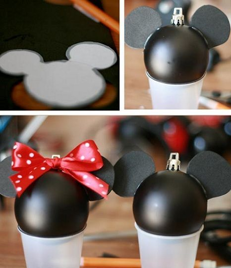 Mickey Mouse Decoracion Navidad ~ Decora tus esferas navide?as de Mickey y Minnie Mouse