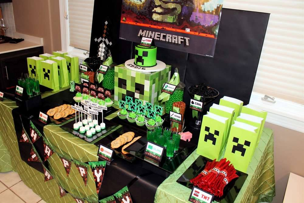 Minecraft dale detalles for Decoration ideas 7th birthday party