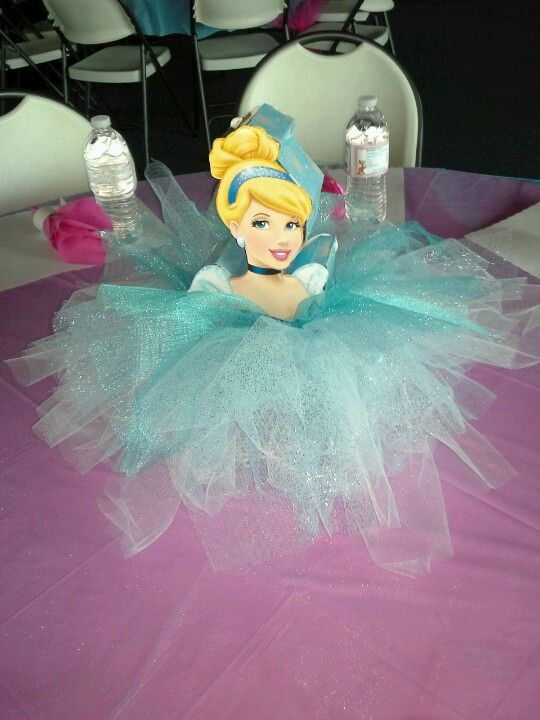 centro de mesa con tul de princesas5