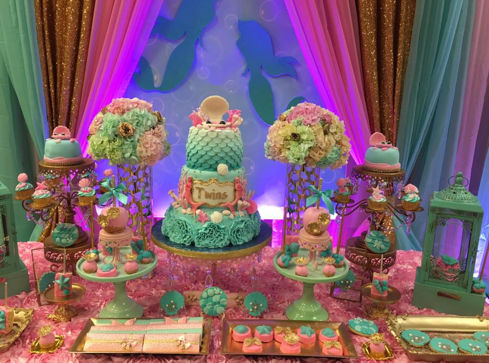 Baby Shower Cake Ideas Hot Pink And Gold Peacock