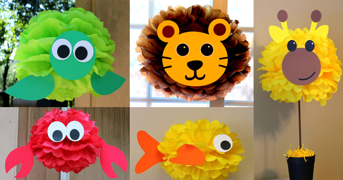 13 figuras de animalitos super f cil de hacer con papel for Figuras de decoracion