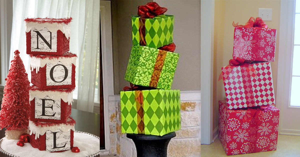 Decoraciones Navide As Con Cajas De Cart N Dale Detalles